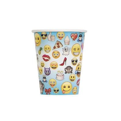 8 gobelets carton Emoji 25 cl