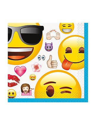 16 serviettes Emoji 25 x 25 cm