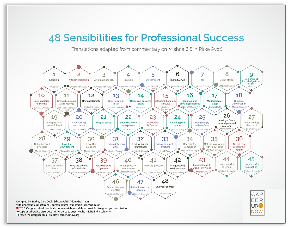 48 sensibilities for professionals
