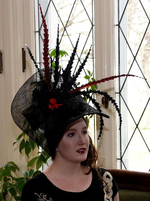 Black Bonnet Fascinator Featured in National Horseman Magazine