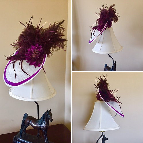 Purple Pizazz Fascinator Featured in D'Prestige Fashion Show