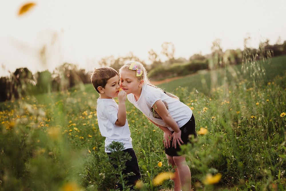 Boy and Girl portrait Israel Jessica Frykman Photography