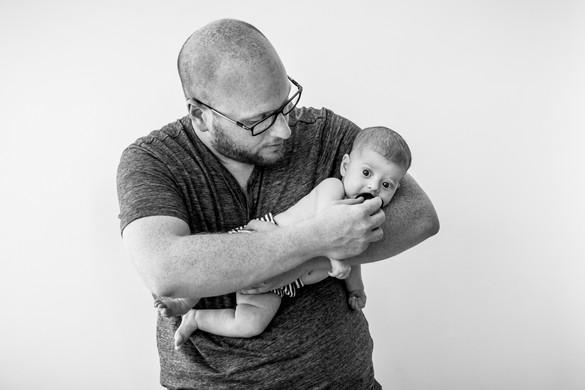 Baby & Dad portrait Tel aviv