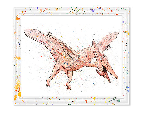 Watercolor Pterodactyl by Jordan Ellis
