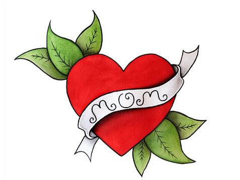 heart Tattoo Watercolor