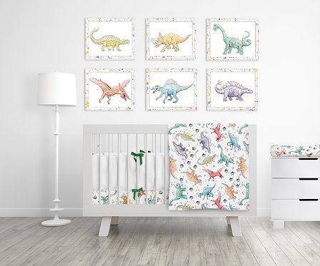 9 Piece Dinosaur Nusery Set