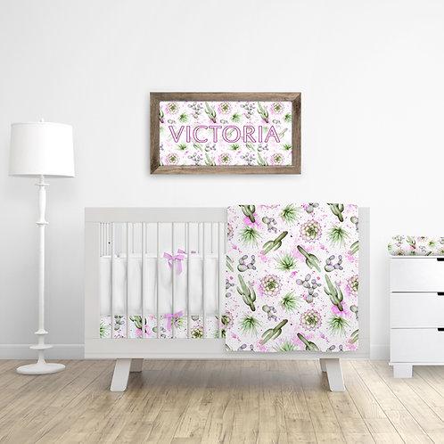 Watercolor Cactus Nursery Set