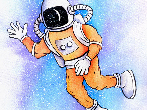 Astronaut Watercolor