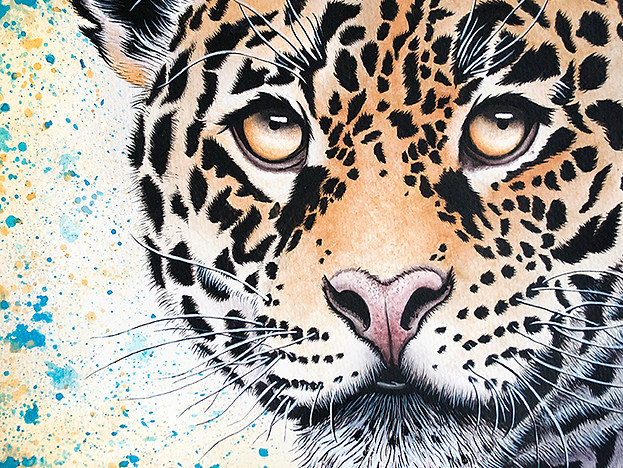 Jaguar Watercolor Painting