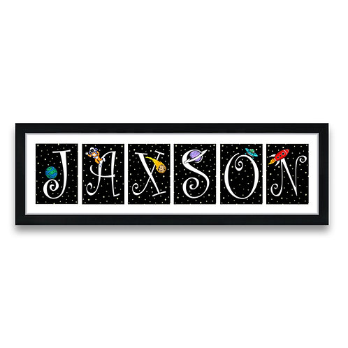 Custom Outer Space Letter Prints