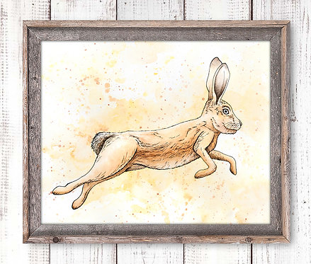 Hare Watercolor Print
