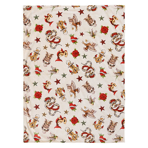 Sailor Jerry Tattoo Baby Blanket