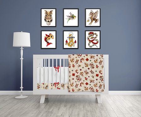 Tattoo Theme Nursery Set