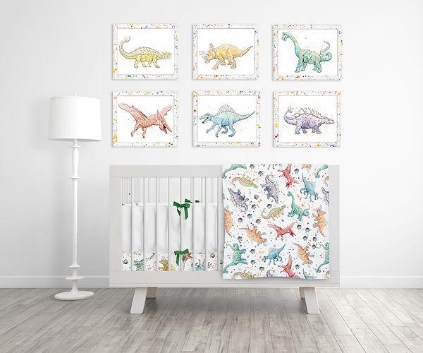 Dinosaur Nursery Set