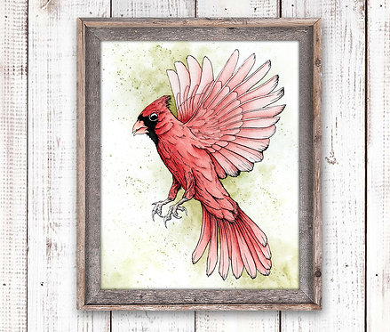 Cardinal Watercolor Print