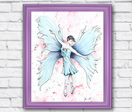 Fairy Watercolor Fantasy Print