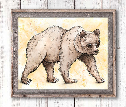 Brown Bear Watercolor Print