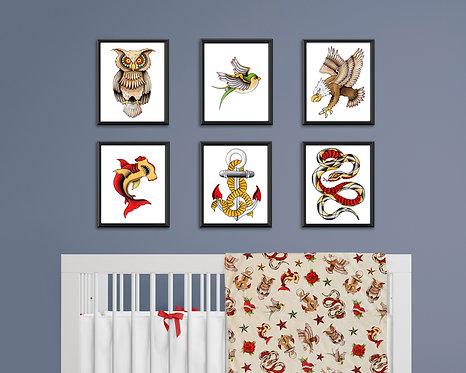 Tattoo Nursery Art Prints