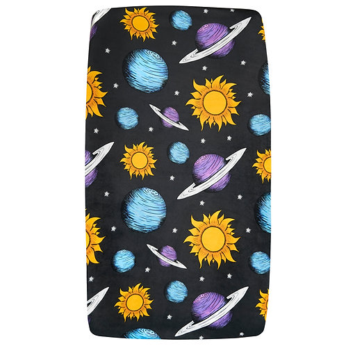 Planets and Sun Changing Pad Cover