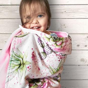 Watercolor Cactus Baby Blanket