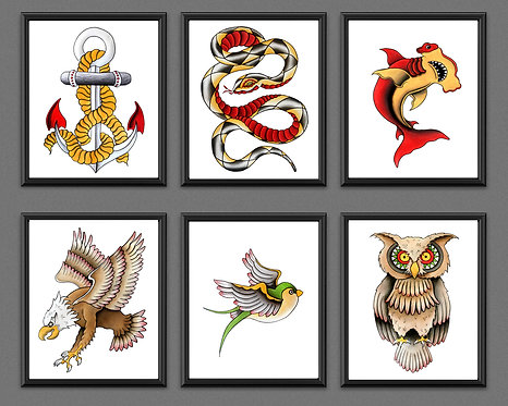 Sailor Jerry Tattoo Art Prints
