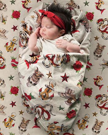 Tattoo Baby Blanket