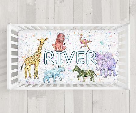 Custom Animal Crib Sheet