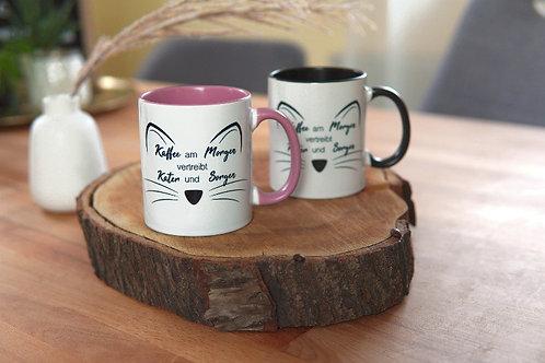 "2er Set ""Kaffee am Morgen..."" Tasse Kitty"