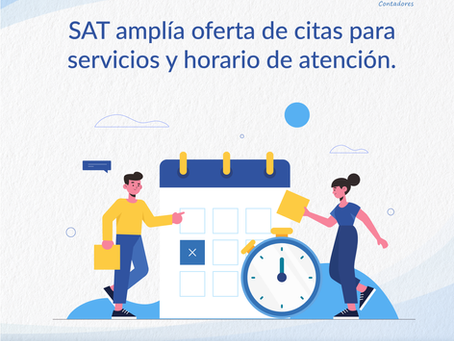 SAT amplía oferta de citas para servicios y horario de atención
