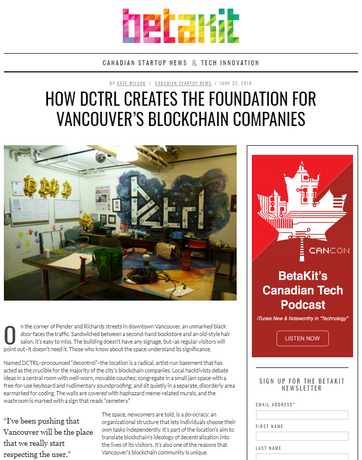 How DCTRL creates the foundation for Vancouver's blockchain companies