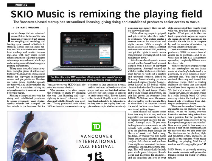 SKIO Music is levelling the playing field