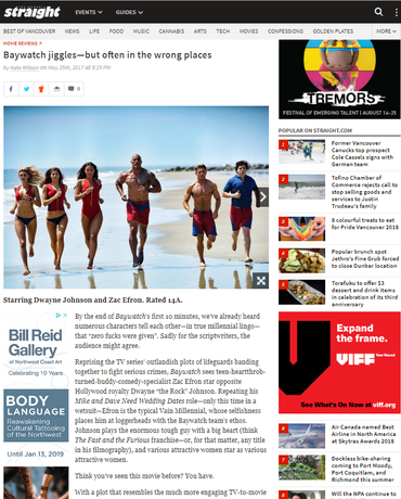 Baywatch jiggles - but often in the wrong places