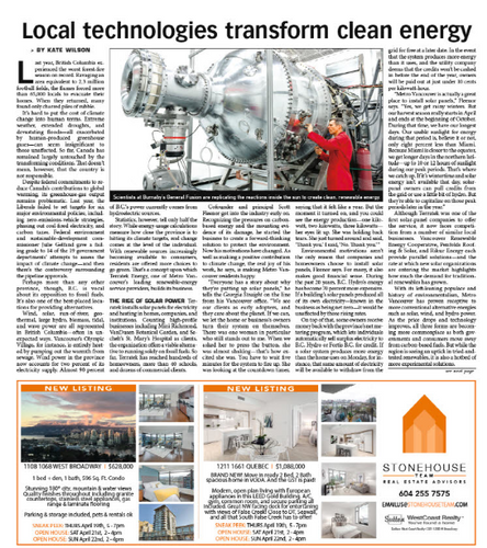 Local technologies transform clean energy