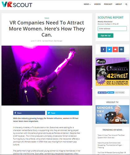 VR companies need to attract more women. Here's how they can