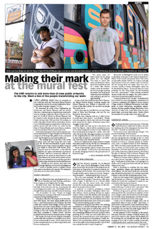 Making their mark at the mural fest