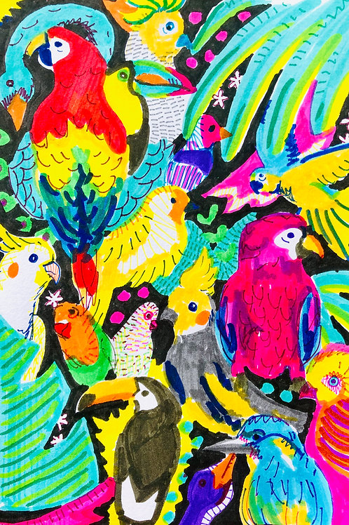 For the Birds Print