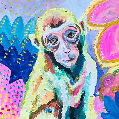 Nursery Monkey Print