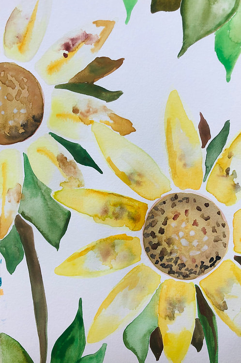 Sunflowers Prints, Set of 3