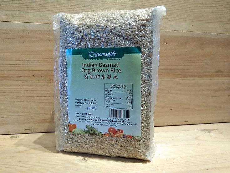 GA Indian Basmati Organic Brown Rice 1kg