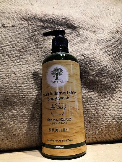 THREELAB Heals Inflamed Skin Body Wash (500ml)