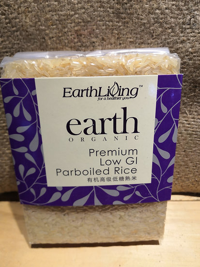 EARTH ORGANIC Premium Low GI Parboiled Rice (900g)