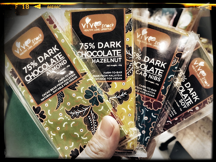 VIVE 75% DARK CHOCOLATE /45GM