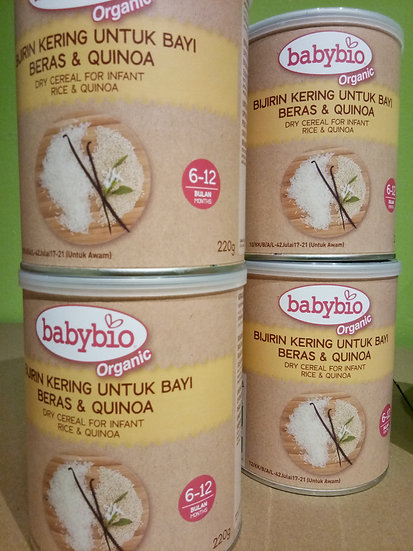 BABYBIO RICE & QUINOA CEREAL 220GM