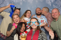 Holiday party photo booth.