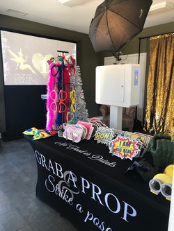 Birthday party photo booth setup
