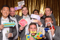 Groomsmen fun in the Photo Booth
