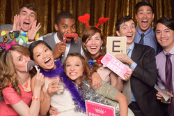 Big group wedding photo booth