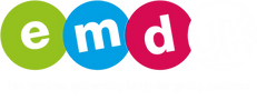 EMDUKCMYK white logo with updated strapl
