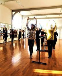 Donna teaching Ballet Int/Adv class - St Peter's Hall