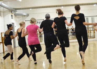 Brian teaching Ballet Beginners - Arts Ed